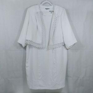 Jessica London White Two-Piece Dress
